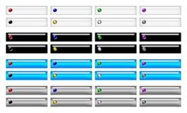 Botones rectangulares de la navegación Foto de archivo