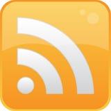 Botones rectangulares del vector de RSS Fotografía de archivo