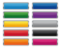 Botones rectangulares metálicos Foto de archivo libre de regalías