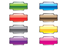 Botones rectangulares Varicoloured Imagen de archivo libre de regalías