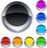 Botones redondos 3d. stock de ilustración