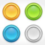 Botones redondos Imágenes de archivo libres de regalías