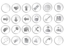 Botones redondos blancos del Web fijados stock de ilustración