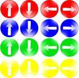 Botones redondos con las flechas para una página de internet Una colección de botones coloridos libre illustration