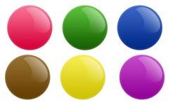 Botones redondos del círculo Foto de archivo libre de regalías