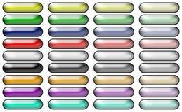 Botones redondos del rectángulo Fotografía de archivo