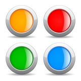 Botones redondos del Web Fotos de archivo