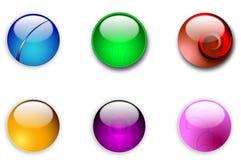 Botones redondos del Web del Aqua Fotos de archivo