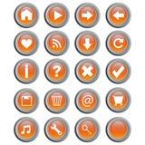 Botones redondos del Web - vector Imagen de archivo libre de regalías