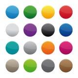 Botones redondos en blanco stock de ilustración