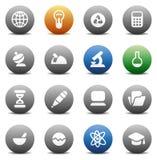Botones redondos para la ciencia Imagen de archivo libre de regalías