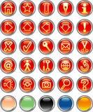 Botones redondos rojos Foto de archivo