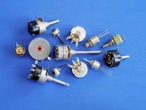 Botones reguladores en diversas versiones Imagenes de archivo