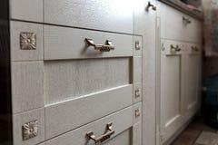 botones retros del gabinete del metal Imagen de archivo libre de regalías