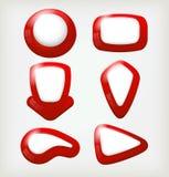 Botones rojos stock de ilustración