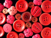 Botones rojos Fotos de archivo libres de regalías