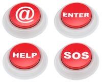 Botones rojos Imágenes de archivo libres de regalías
