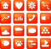 Botones rojos de la forma de vida Imagen de archivo libre de regalías
