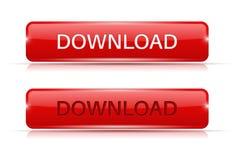 Botones rojos de la transferencia directa Normal y activo stock de ilustración