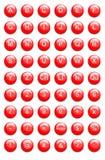 Botones rojos del Web site stock de ilustración