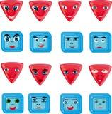 Botones rojos y azules de la animación Fotografía de archivo libre de regalías