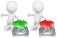 Botones rojos y verdes. Foto de archivo