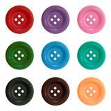 Botones Sistema de botones multicolores Ilustración del vector ilustración del vector