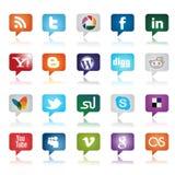 Botones sociales de los media Fotografía de archivo libre de regalías