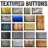 Botones Textured Imagen de archivo libre de regalías