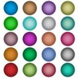 Botones Textured del Web fijados Fotos de archivo libres de regalías