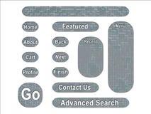 Botones urbanos del interfaz del Web del camuflaje del ejército del ACU Imágenes de archivo libres de regalías