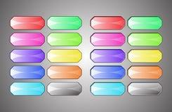 Botones vacíos coloreados Imagen de archivo