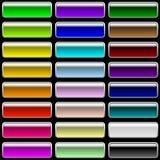Botones varicolored rectangulares brillantes Foto de archivo libre de regalías