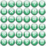 Botones verde oscuro Fotos de archivo libres de regalías