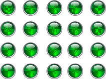 Botones verdes Imagenes de archivo