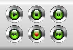 Botones verdes Imagen de archivo libre de regalías
