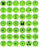 Botones verdes claros de la oficina Imagen de archivo libre de regalías