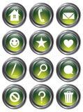 Botones verdes de la acción stock de ilustración