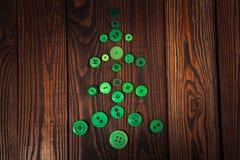 Botones verdes del árbol de navidad, el concepto de la Navidad Fotografía de archivo