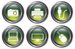 Botones verdes del dispositivo libre illustration