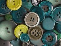 Botones verdes viejos Imagen de archivo libre de regalías