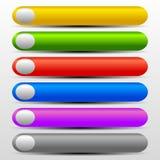 Botones vibrantes del web con Gray Elements Foto de archivo