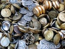 Botones viejos Foto de archivo libre de regalías