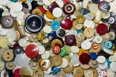 Botones viejos Foto de archivo