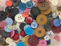 Botones viejos Imágenes de archivo libres de regalías
