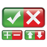 Botones a votar sobre el Web site, illustrati Foto de archivo