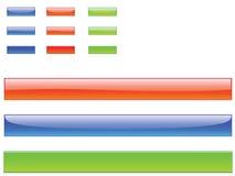 Botones y barras Imagenes de archivo