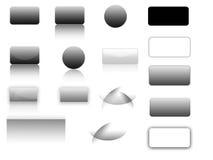Botones y barras Imagen de archivo libre de regalías