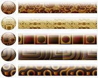 Botones y barras que corresponden con - elementos del diseño Foto de archivo libre de regalías