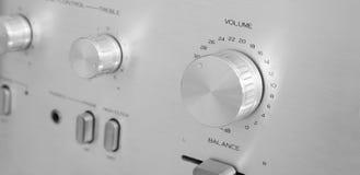 Botones y botones del amplificador Foto de archivo libre de regalías